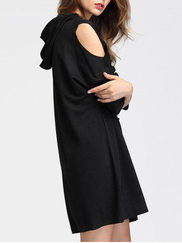 Outfit Cold Shoulder Hoodie Dress