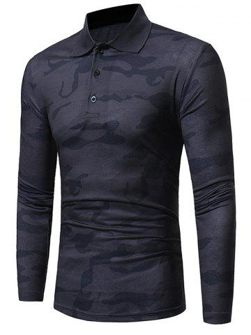 New Camouflage Polo Collar Long Sleeve T-shirt