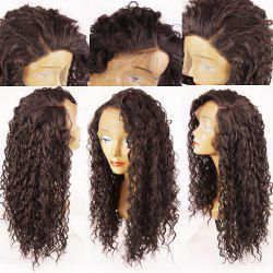 Side Parting Long Shaggy Curly Lace Front Synthetic Wig -
