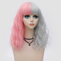Medium Full Bang Double Color Natural Wave Synthetic Party Wig -