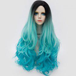 Long Side Parting Shaggy Layered Wavy Ombre Synthetic Party Wig -