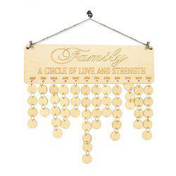 DIY Wooden Family Birthday Calendar Reminder Board - IVORY YELLOW