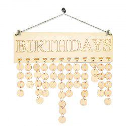 DIY Family Birthdays Calendar Wooden Reminder Board - Ivory Yellow