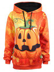 Plus Size Maple Halloween Pumpkin Hoodie -
