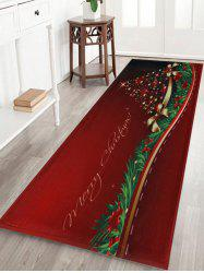 Christmas Tree Print Antislip Bath Mat - Red - W24 Inch * L71 Inch