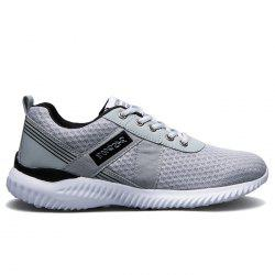 Breathable Mesh Lace Up Sneakers - DEEP GRAY 38