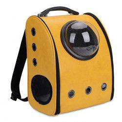 Grommet Breathable Space Capsule Backpack - YELLOW