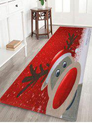 Christmas Deer Pattern Anti-skid Water Absorption Area Rug - Red - W24 Inch * L71 Inch