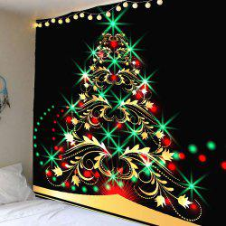 Colored Christmas Tree Pattern Waterproof Wall Art Tapestry - Colorful - W79 Inch * L71 Inch