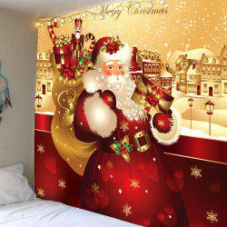 Waterproof Father Christmas Printed Wall Hanging Tapestry - Colorful - W79 Inch * L71 Inch