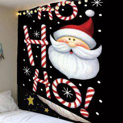 Santa Claus Head Pattern Wall Decor Tapestry - Colorful - W59 Inch * L51 Inch