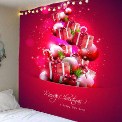 Christmas Present Pattern Wall Decor Tapestry - Red - W59 Inch * L51 Inch
