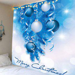 Balloons Printed Christmas Wall Art Tapestry - Blue And White - W79 Inch * L71 Inch