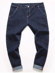 Casual Zipper Fly Straight Leg Jeans - BLUE 32