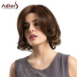 Adiors Short Side Parting Tail Upwards Straight Bob Colormix Synthetic Wig -