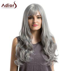 Adiors Long See-Trough Fringe Layered Curly Synthetic Wig - GRANNY HAIR