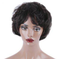 Short Side Bang Slightly Curled Synthetic Wig -