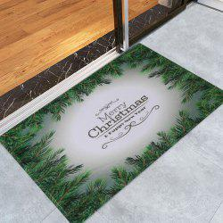 Merry Christmas Pattern Anti-skid Water Absorption Area Rug -