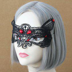 Faux Ruby Halloween Fox Lace Party Mask -