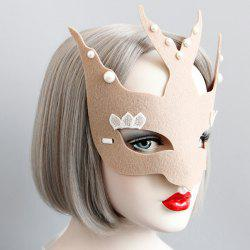 Faux Pearl Halloween Fly Bird Party Mask -