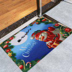 Merry Christmas Snowman Pattern Anti-skid Water Absorption Area Rug - COLORMIX W16 INCH * L24 INCH