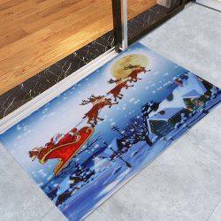 Christmas Santa Sleigh Pattern Anti-skid Water Absorption Area Rug -