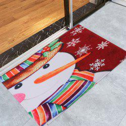 Christmas Snowman Pattern Anti-skid Water Absorption Area Rug -