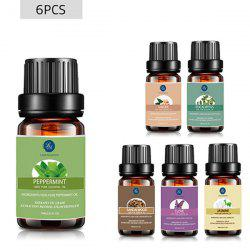 6 Pieces Peppermint Clove Eucalyptus Ginger Sandalwood Jasmine Essential Oil Set -