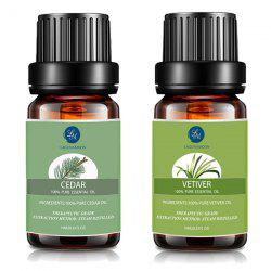 Top 2 Knit Cedar and Vetiver Essential Oil Set - MULTI