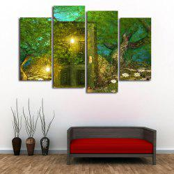 Forest Door Print Unframed Split Canvas Paintings -