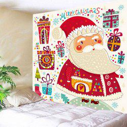 Christmas Gifts Santa Print Tapestry Wall Hanging Art Decoration -