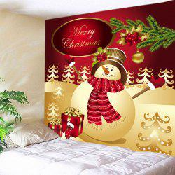 Christmas Snowman Gifts Print Tapestry Wall Hanging Art Decoration -
