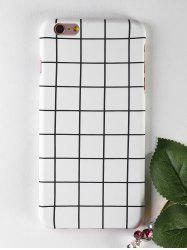 Grid Pattern Soft Protective Phone Case For Iphone -
