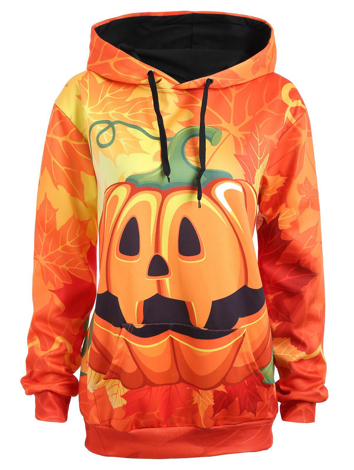 Shop Plus Size Maple Halloween Pumpkin Hoodie