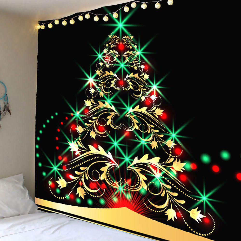 Colored Christmas Tree Pattern Waterproof Wall Art TapestryHOME<br><br>Size: W59 INCH * L51 INCH; Color: COLORFUL; Style: Festival; Theme: Christmas; Material: Velvet; Feature: Removable,Washable,Waterproof; Shape/Pattern: Tree; Weight: 0.2100kg; Package Contents: 1 x Tapestry;