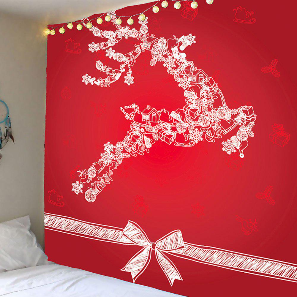 Sale Christmas Reindeer Printed Wall Art Tapestry
