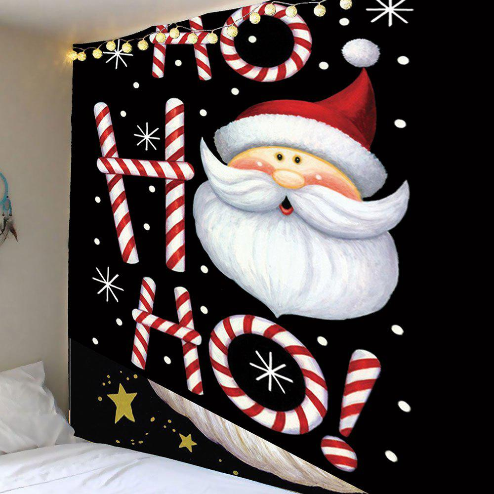 Santa Claus Head Pattern Wall Decor TapestryHOME<br><br>Size: W79 INCH * L71 INCH; Color: COLORFUL; Style: Festival; Theme: Christmas; Material: Polyester; Feature: Removable,Washable; Shape/Pattern: Santa Claus; Weight: 0.3900kg; Package Contents: 1 x Tapestry;