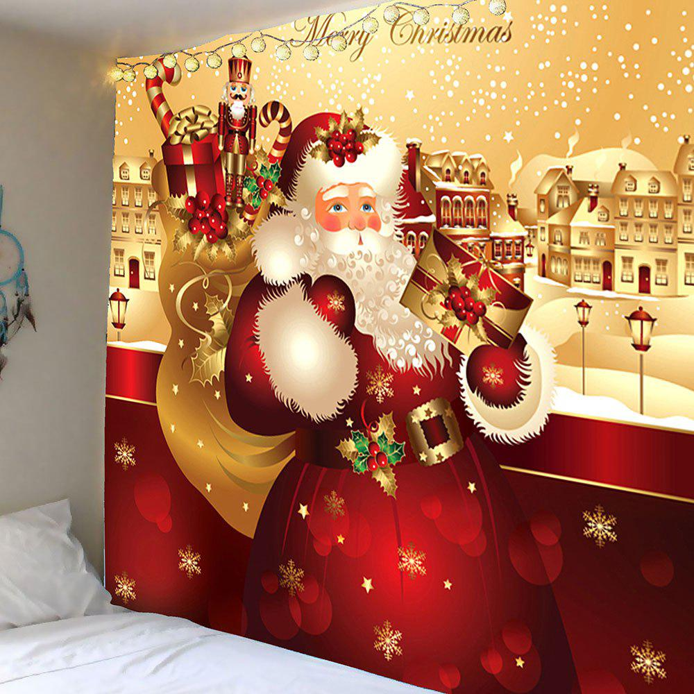 Waterproof Father Christmas Printed Wall Hanging TapestryHOME<br><br>Size: W59 INCH * L59 INCH; Color: COLORFUL; Style: Festival; Theme: Christmas; Material: Velvet; Feature: Removable,Washable,Waterproof; Shape/Pattern: Santa Claus; Weight: 0.2600kg; Package Contents: 1 x Tapestry;