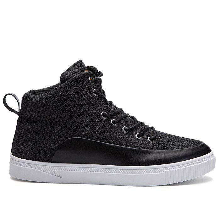 Outfits Faux Leather Panel High Top Sneakers
