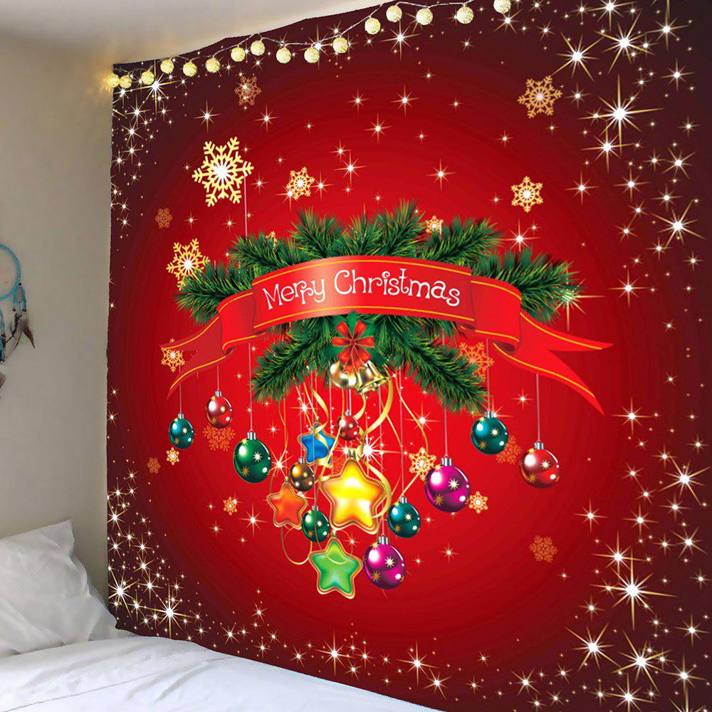 Wall Hanging Christmas Balloons Printed TapestryHOME<br><br>Size: W79 INCH * L71 INCH; Color: COLORFUL; Style: Festival; Theme: Halloween; Material: Polyester; Feature: Removable,Washable; Shape/Pattern: Print; Weight: 0.3900kg; Package Contents: 1 x Tapestry;