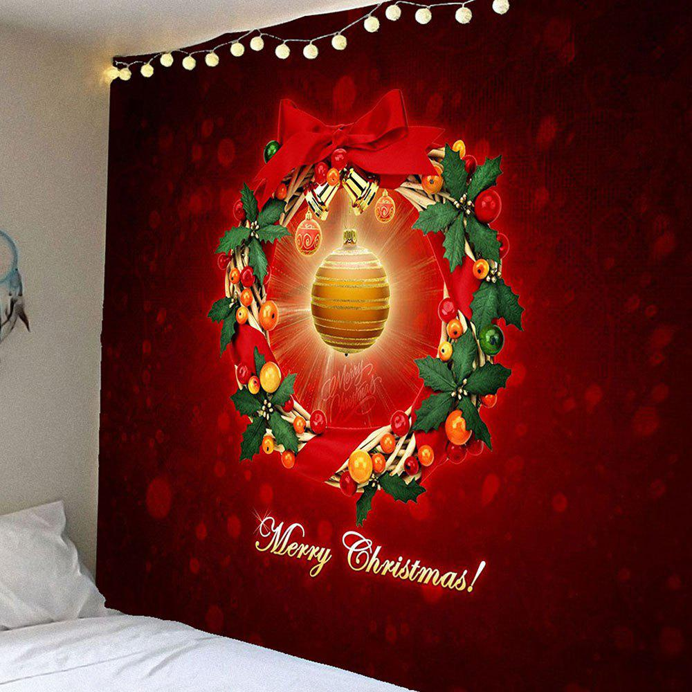 Christmas Bell Pattern Waterproof Wall Decor TapestryHOME<br><br>Size: W79 INCH * L71 INCH; Color: COLORFUL; Style: Festival; Theme: Christmas; Material: Velvet; Feature: Removable,Washable,Waterproof; Shape/Pattern: Print; Weight: 0.3900kg; Package Contents: 1 x Tapestry;