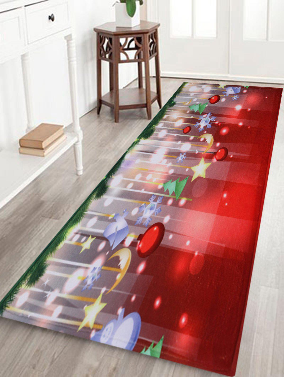 Outfit Christmas Baubles Stars Pattern Anti-Skid Water Absorption Area Rug