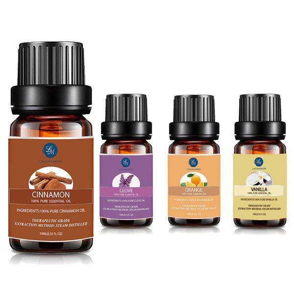 4 Bottles Cinnamon Clove Orange Vanilla Essential Oil SetBEAUTY<br><br>Color: MULTI; Net weight(g/ml): 10ML*4; Item Type: Pure Essential Oil; Product weight: 0.2000 kg; Package weight: 0.3000 kg; Package size (L x W x H): 14.00 x 7.50 x 6.00 cm / 5.51 x 2.95 x 2.36 inches; Package Content: 4 x Essential Oil(Pieces);