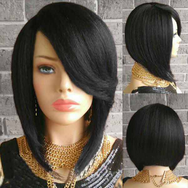 2019 Short Side Part Straight Inverted Bob Synthetic Wig Rosegal Com