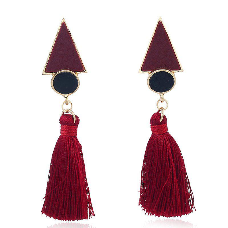 Chic Antique Round Triangle Tassel Earrings