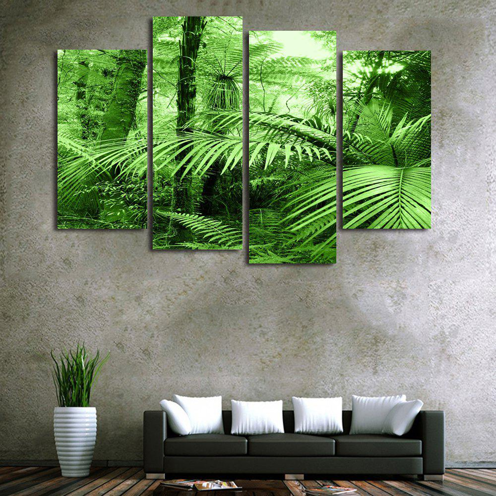 Forest Leaf Print Unframed Split Canvas Paintings