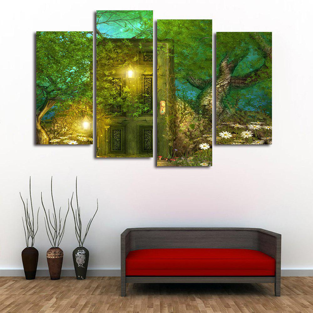 Outfit Forest Door Print Unframed Split Canvas Paintings