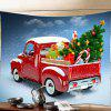 Car Christmas Tree Print Tapestry Wall Hanging Art Decoration -