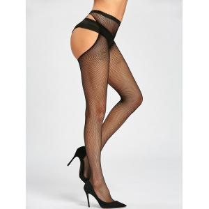 Cut Out Fishnet Sheer Tights -