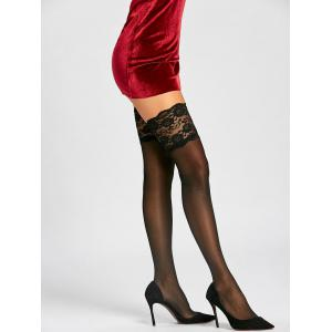 Overknee Sheer Stockings with Lace -